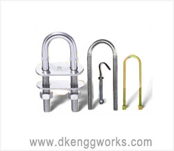 U Bolts J hooks fasteners manufacturers exporters in india punjab